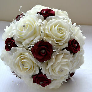Beautiful Vintage Style Christmas Winter Wedding Bridal Bouquet