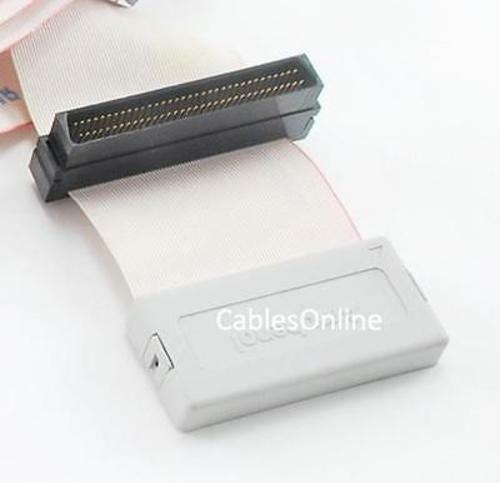 FS-104T 36inch HPDB68 Internal SCSI-3 68-Pin 4 Drive Ribbon Cable w// Terminator