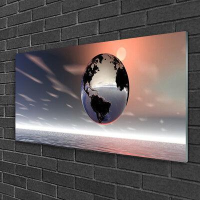 Glasbilder Wandbild Druck auf Glas 125x50 Erde Kunst