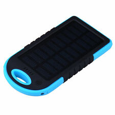 Portable Waterproof Solar USB Battery Power Bank Pack Charger Phone~5000mAh HOT