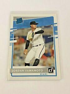 2020-Donruss-Baseball-Rated-Rookie-Jordan-Yamamoto-RC-Miami-Marlins