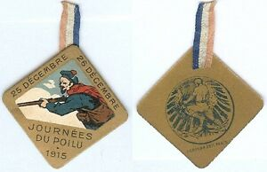 Insigne-de-journees-14-18-Melle-VIGREUX-journee-poilu-1915-LALIQUE