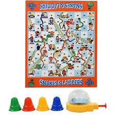 Kids Giant Snakes & Ladders Roll Out Carpet Board Game Family Traditional New