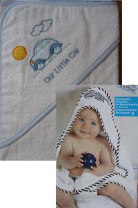 Poncho Kapuzen Handtuch Baby Kinder Babyponcho Babyhandtuch Kapuzenhandtuc<wbr/>h blau