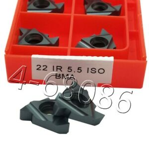 10PCS 22IR 5.0ISO BMA Threading Blade CNC Carbide Inserts For Stainless Steel