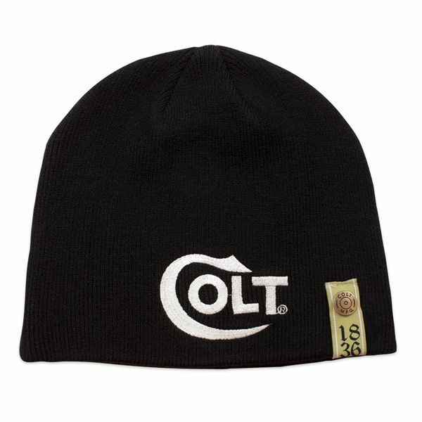 3b8bad65e890f Colt Firearms Factory Beanie Knit Cap W  White Colt Embroidered Logo 1836  Harris for sale online