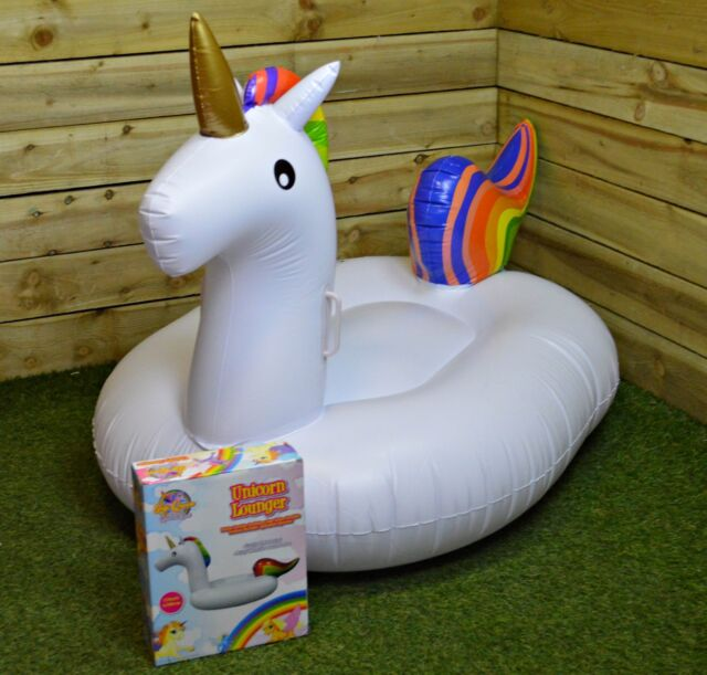170x100x95CM Unicorn Lounger PVC Handles Horse Pool Swimming Kid's Inflatable