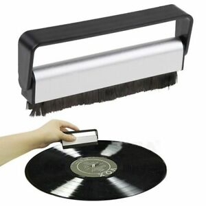 Schallplattenreinigung-Carbon-Antistatik-Vinyl-Buerste-Turntable-Reinigung-Buerste