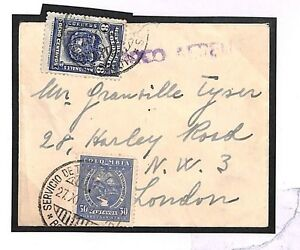 S284 1935 Colombia W-airs London GB Cover {samwells-covers}PTS