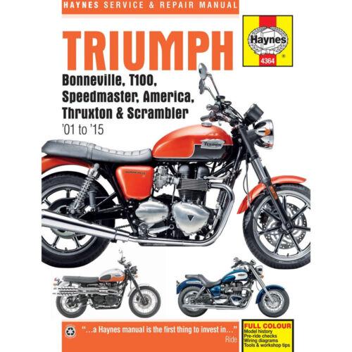 Triumph bonneville speedmaster america thruxton t100 haynes triumph bonneville speedmaster america thruxton t100 haynes service manual 4364 ebay fandeluxe Gallery