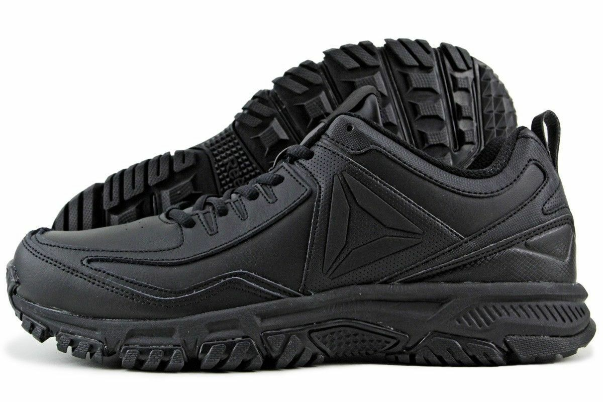 Men Reebok Ridgerider Leather Trail Shoes CN0954 Black Black 100% Authentic New