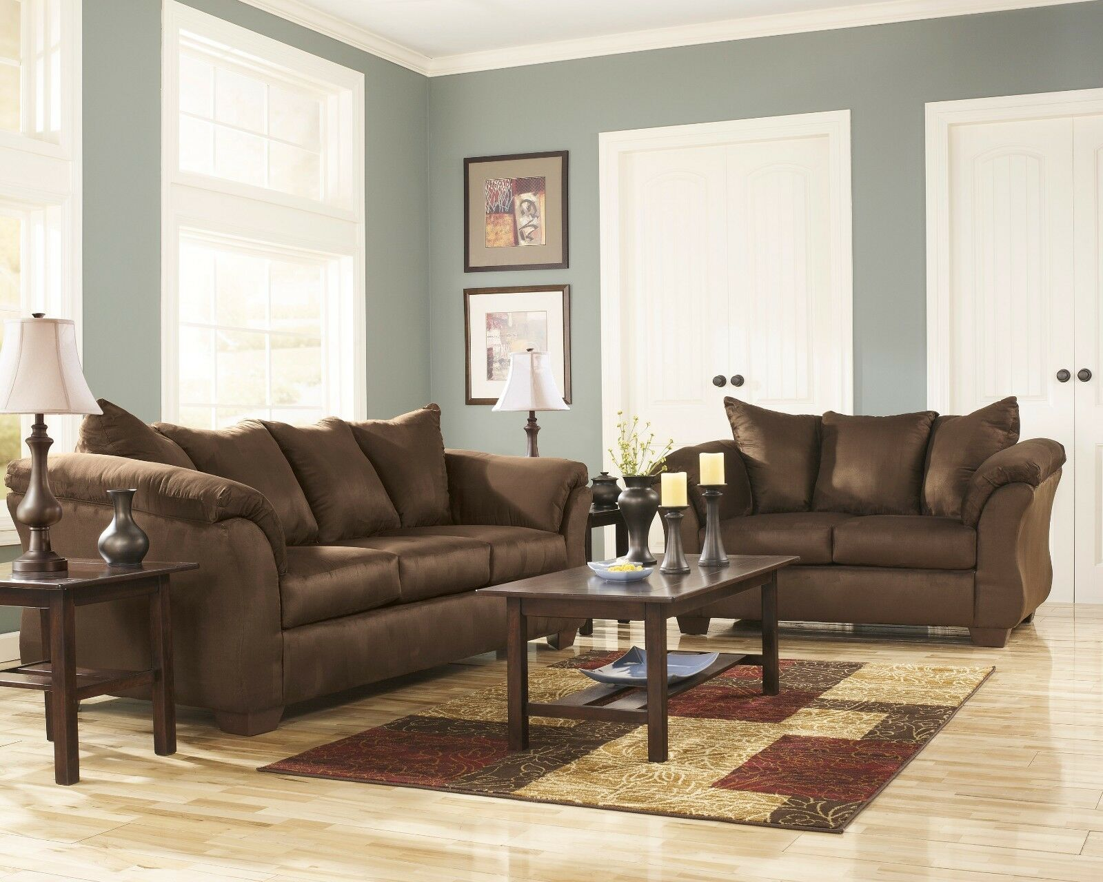 Ashley Furniture Darcy Cafe Sofa And Loveseat Living Room Set For Sale Online Ebay