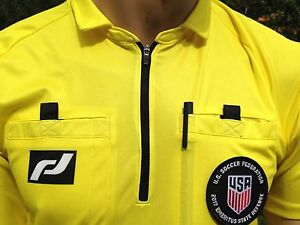 Soccer Ref jersey. NEW (2017) USSF PRO TRULY THE BEST quality. FREE badge holder