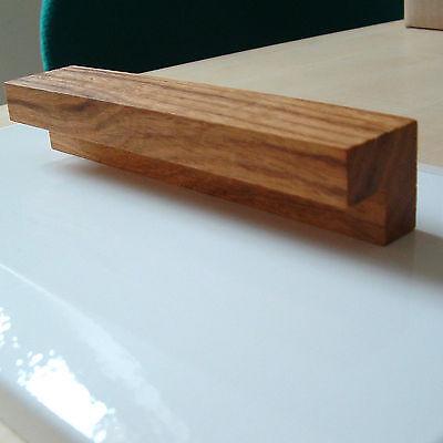 5 x Holzgriff Eiche-Walnuss Möbelgriff Holz Schubladengriff Geölt Tür Schrank