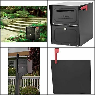 Oasis Classic Locking Post Mount Parcel Mailbox High Security Reinforced Lock