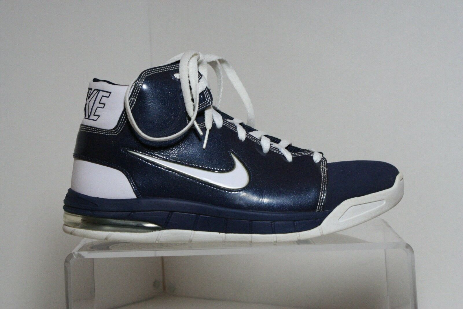 buy cheap 88436 56671 Nike Air Max Bizness Bizness Bizness High Basketball Sneaker 2008 Multi  Navy White Men 12.5 Hip
