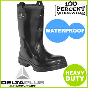 Pro-Heavy-Duty-Fur-Lined-Thermal-Work-Safety-PVC-Rigger-Boots-Wellington-Wellies