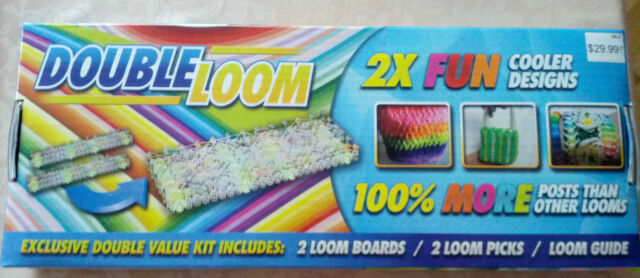 Double Loom 2X Fun Cooler Designs 2 Loom Boards, 2 loom Picks and guide, new