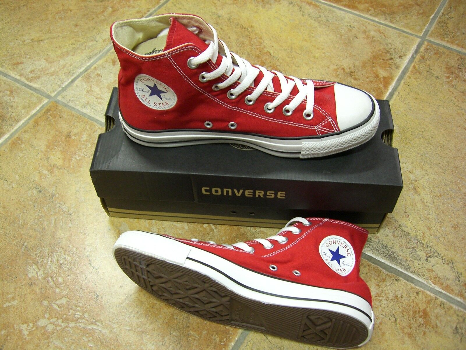 Converse Chucks All Star HI Größe 48 Red M9621C Rot Neu Sneaker
