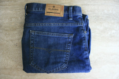 Ex M/&S Men/'s Jeans Straight Leg Stretch Trousers Pants Regular Fit Marks Spencer
