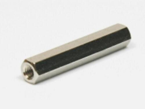 M8x40 SW13 40mm Abstandsbolzen Distanzbolzen Innen-Innen Hex Standoff Stahl vz