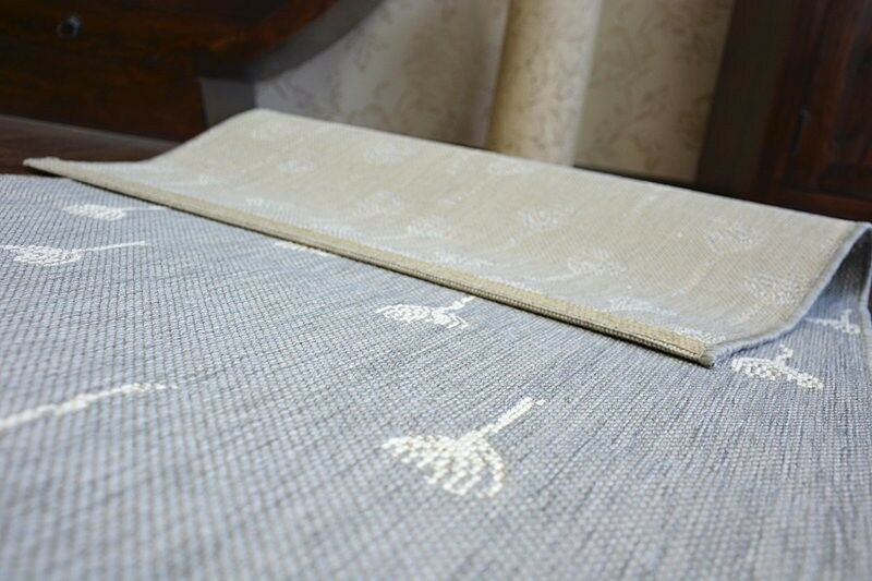 MODERNE SISAL grau Teppich    FLAT  Blaumen Flach webart Einfach zu säubern   Moderne und stilvolle Mode  1d85db