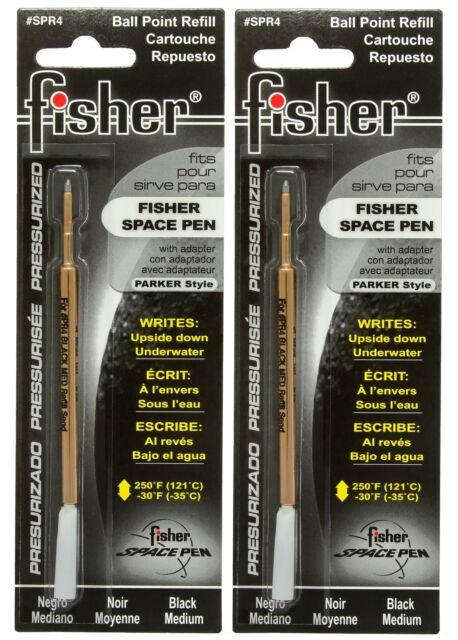 TWO Fisher SPR Series Black Ink / Medium Point Refills #SPR4