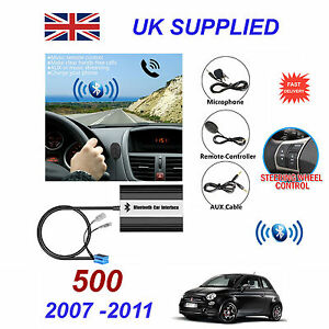 for fiat 500 bluetooth hands free phone aux input mp3 usb 1 0a rh ebay co uk