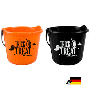 Halloween-SUssES-oder-SAURES-EIMER-Halloween-Sammelbeutel-Tasche-ABAV