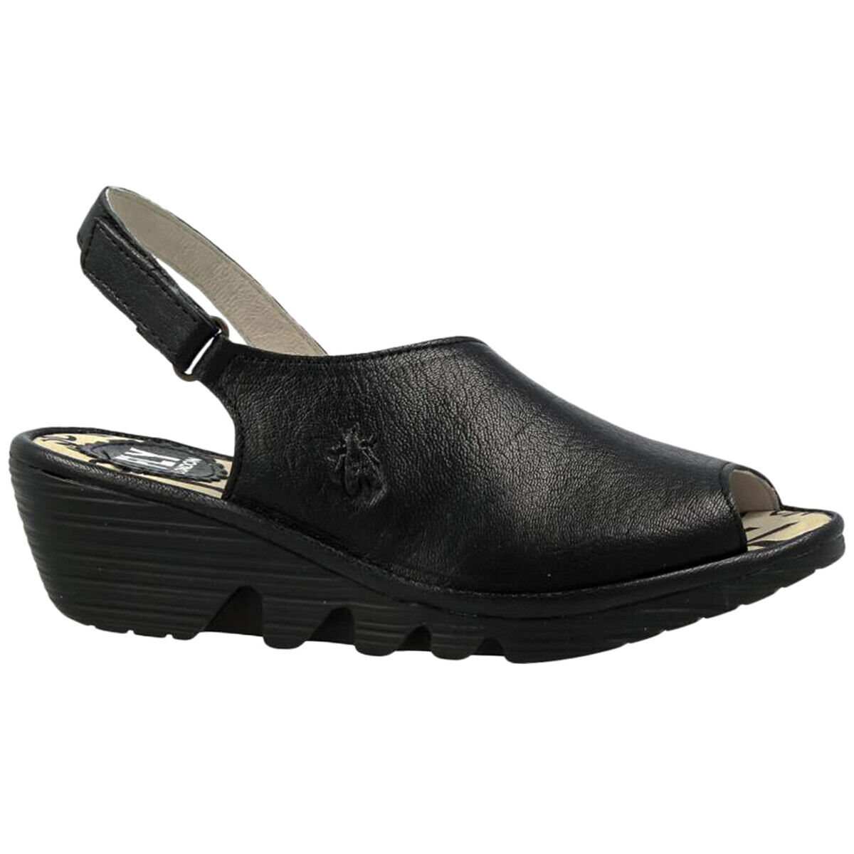Fly London PALP814FLY Leather Seasonal Adjustable Wedges Womens Sandals