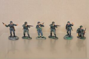 Britains-WWII-Jour-J-Normandie-6-X-Allemand-Infanterie-Soldats-Defendant-Nu