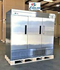 Commercial Refrigerator Freezer Combo 3 Door Rf83 Stainless Steel Fridge Nsf