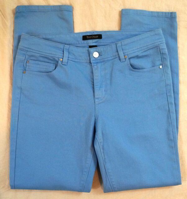 7c68ebe934c3b White House Black Market Blanc Size 10r Slim Ankle Sky Blue Jeans | eBay