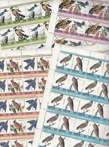 Infatigable Nevis 7272 - 1985 Audubon Oiseaux En Complète Feuilles De 25 Paires-afficher Le Titre D'origine