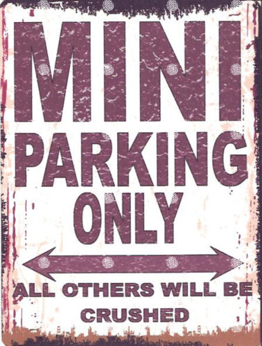 MINI PARKING SIGN RETRO VINTAGE STYLE 6x8in 20x15cm garage workshop art