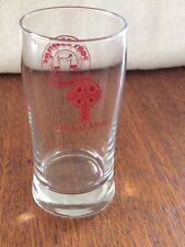 Clear Glass PINT SIZED Beer Glass // Cup PINT SIZED Vintage DOMINO/'S PIZZA