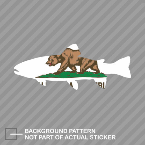 California State Shaped Trout Sticker Decal Vinyl CA fly fishing fish