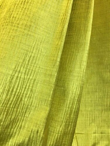 Lime Citrus Green Bark Lines Pattern Curtain Fabric Material 142cm wide 180//6J83