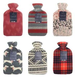 Premium-Christmas-Gift-Soothing-Hot-Water-Bottle-with-Novelty-Fleece-Cover-2L
