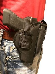 Gun holster for Glock 27 with laser light attachment