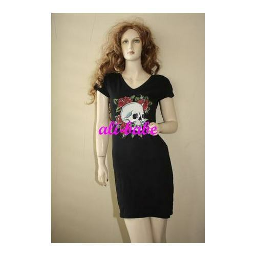 5f38021494b Ed Hardy pinks tunic Dress M NWT Skull t-shirt qtclmb3314-Dresses ...