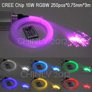 cree chip rgbw twinkle led fibre optique star ceiling light kit 250pcs 3m ebay. Black Bedroom Furniture Sets. Home Design Ideas