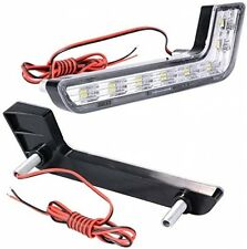 XCSOURCE 2x Car Daytime Running DRL Bright Driving Day Light Head Lamp 8 LED