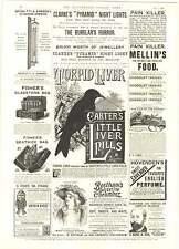 1893 Bertelli's Catramin Pills Anti-septic Tar Oil Richter Puzzles Anchor Box Ad