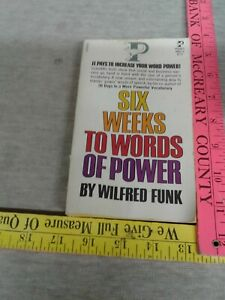 Six weeks to words of Power by wilfred Funk paperback