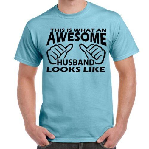 Awesome Husband Mens Funny printed Tshirts  tops novelty joke birthday gift