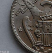 VARIANTE MONEDA DE 25 pesetas 1957 *71 Franco con dos plumas SC
