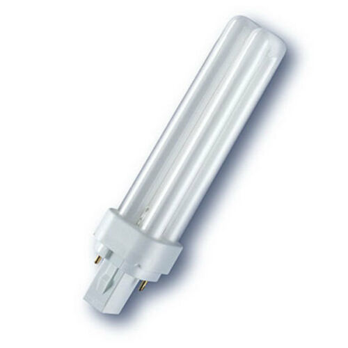 OSRAM 18W DULUX D 830 2PIN PLC CFL ENERGY SAVER LIGHT BULB