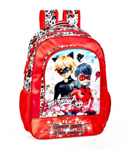 Ladybug /& Cat Noir Rucksack Schulrucksack Schultertasche Backpack Schultasche