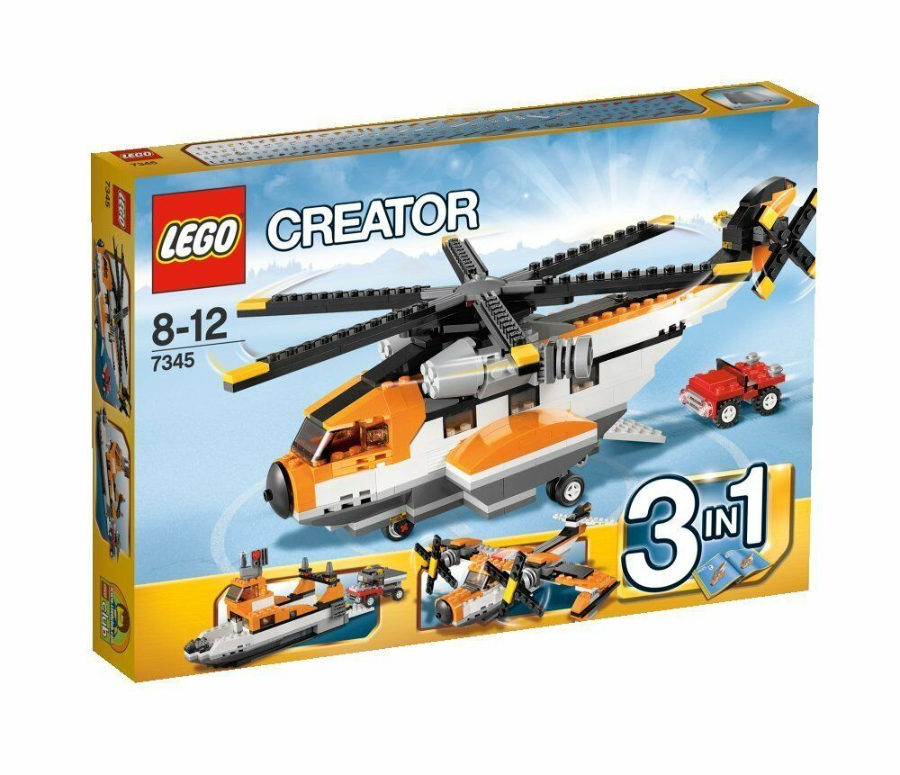 LEGO CREATOR 3 IN 1 ELICOTTERO DA TRASPORTO  8 -12 ANNI  FUORI CATALOGO ART 7345